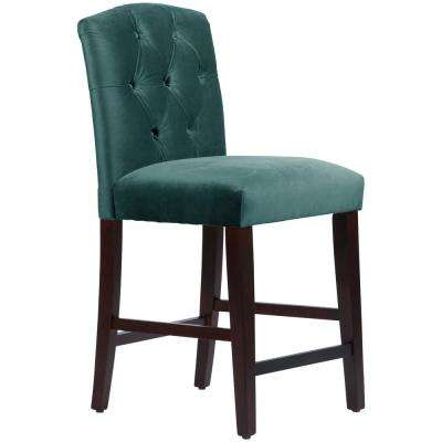 Attrayant Mystere Peacock Tufted Arched Counter Stool