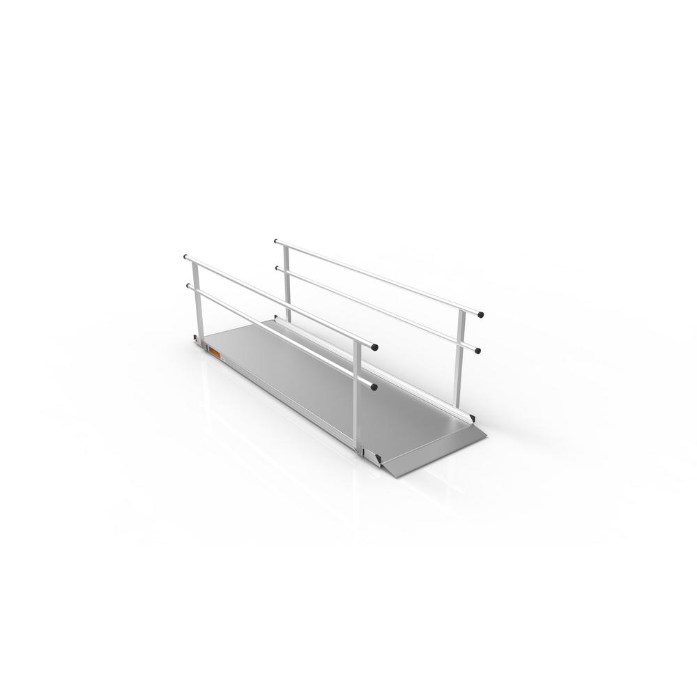 Gateway 10 ft. Aluminum Portable Ramp with Handrails