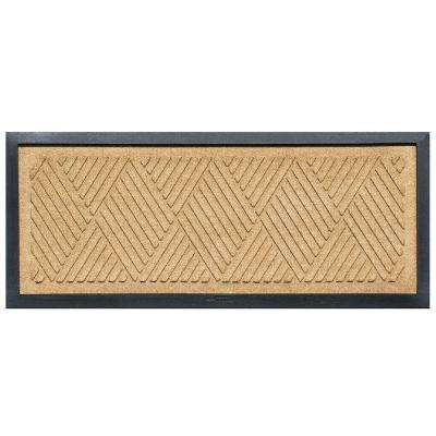 Gold 15 in. x 36 in. Diamonds Boot Tray