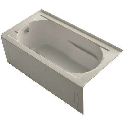 Devonshire 5 ft. Left Drain Soaking Tub in Sandbar with Bask Heated Surface