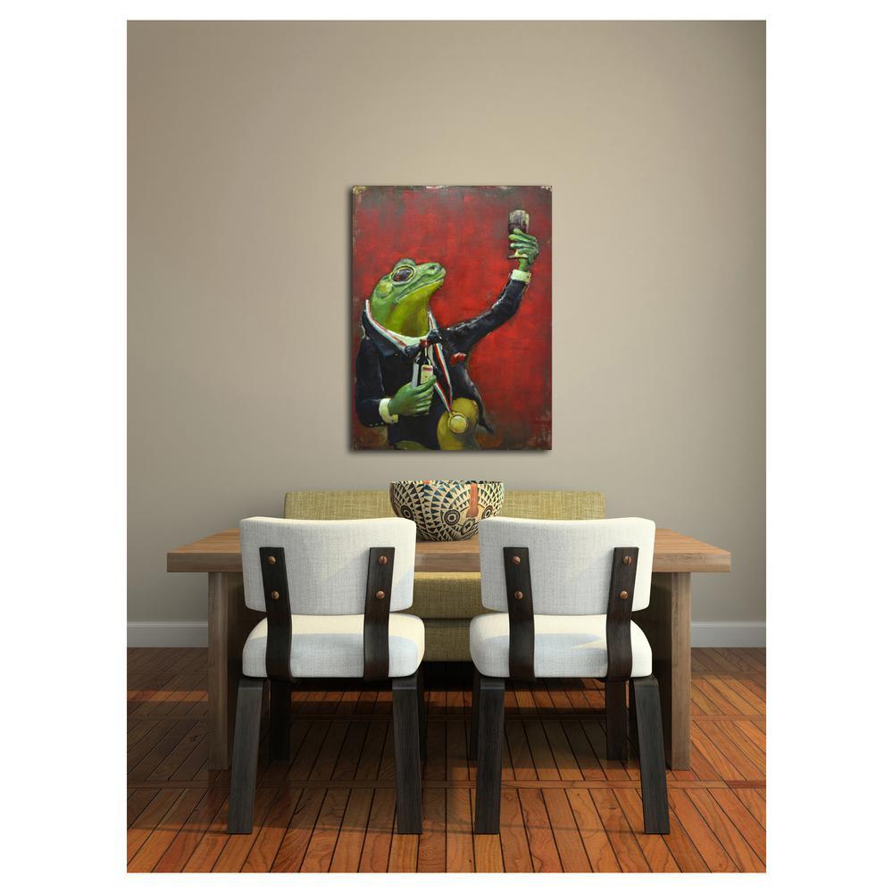 """25 in. x 31 in. """"Frog Sommelier"""" Metal Wall Art"""
