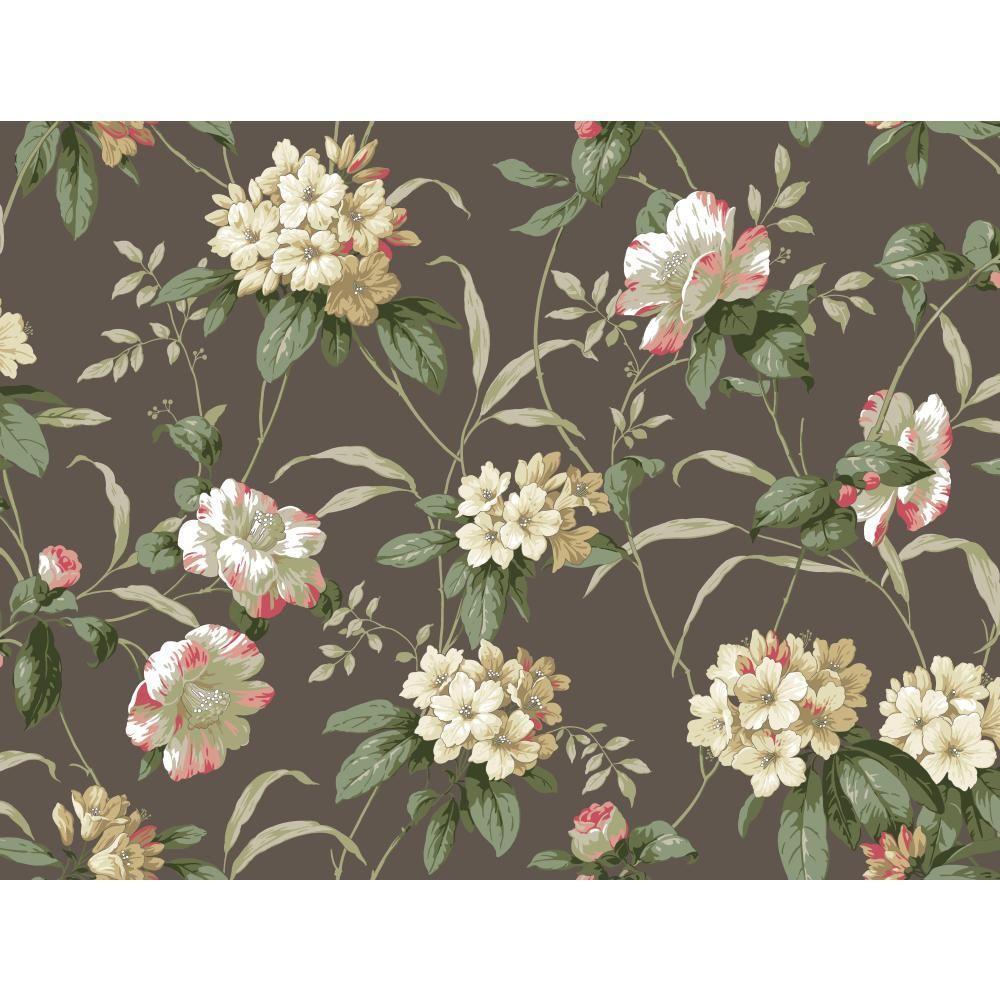 York Wallcoverings Casabella II Rhododendron Floral Wallpaper