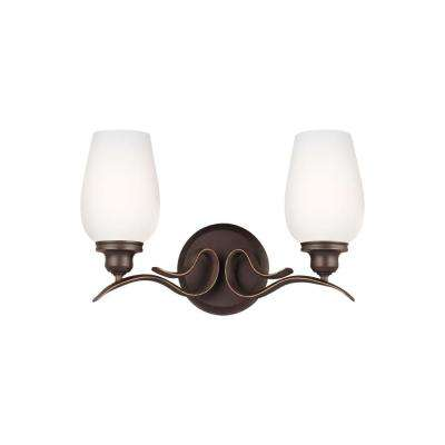 Standish 2-Light Oil Rubbed Bronze with Highlights Vanity Light