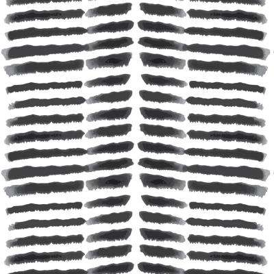 Nomad Collection Tasmanian Beach in Black and White Removable and Repositionable Wallpaper