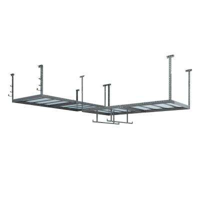 VersaRac Set with 2-Overhead Rack and 8-Piece Accessory Kit (2xVersaRac, Hanging Bars, J-Hooks)