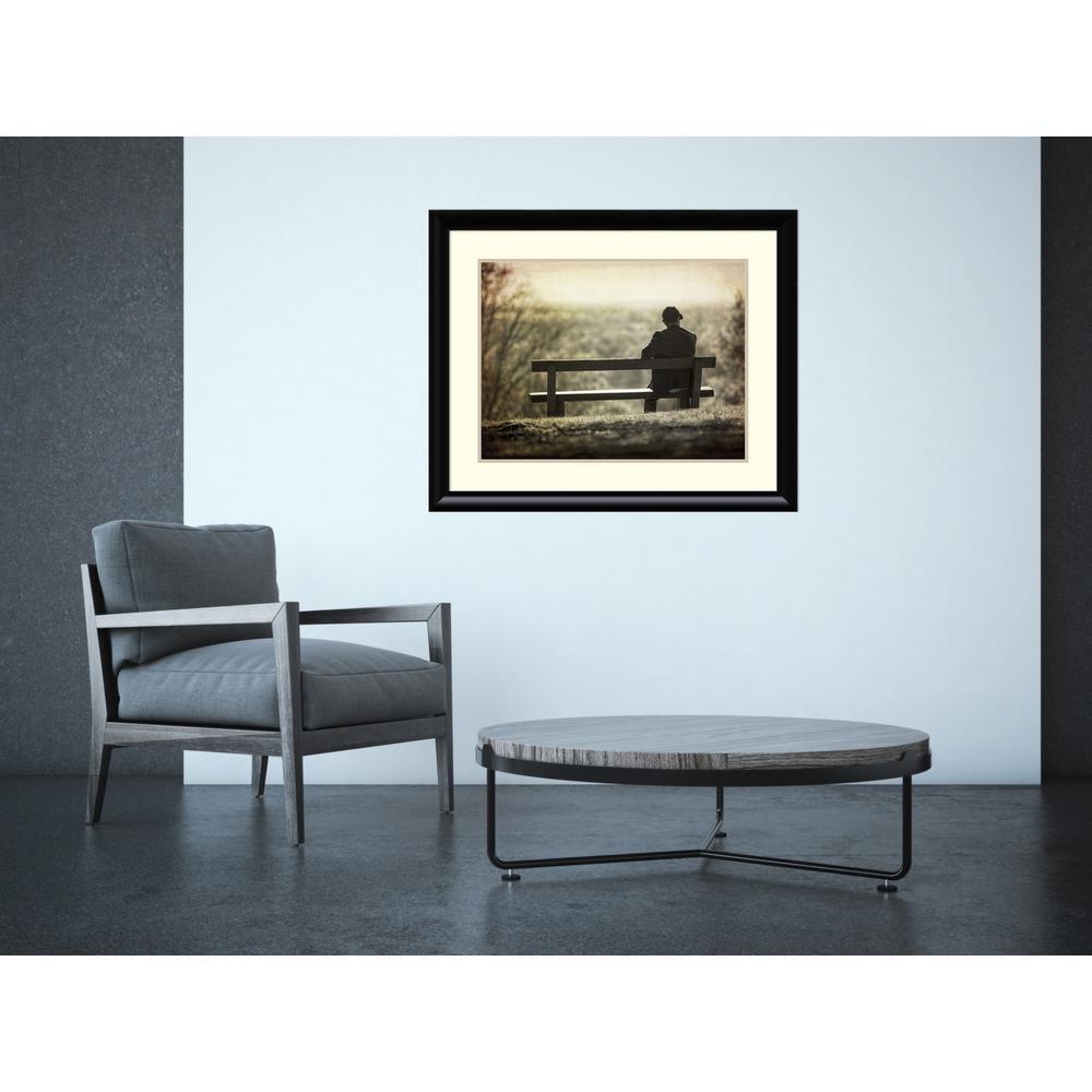 """33 in. W x 27 in. H """"Contemplation"""" by Joe Reynolds Framed Art Print"""
