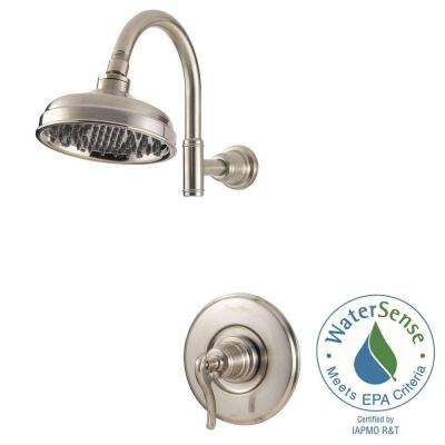 Ashfield Single Handle Shower Faucet Trim Kit in Brushed Nickel (Valve Not Included)