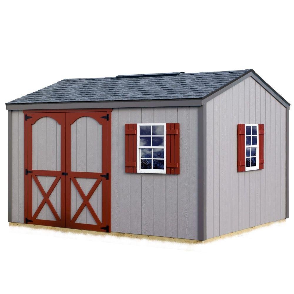 Best Barns Cypress 12 ft. x 10 ft. Wood Storage Shed Kit with Floor