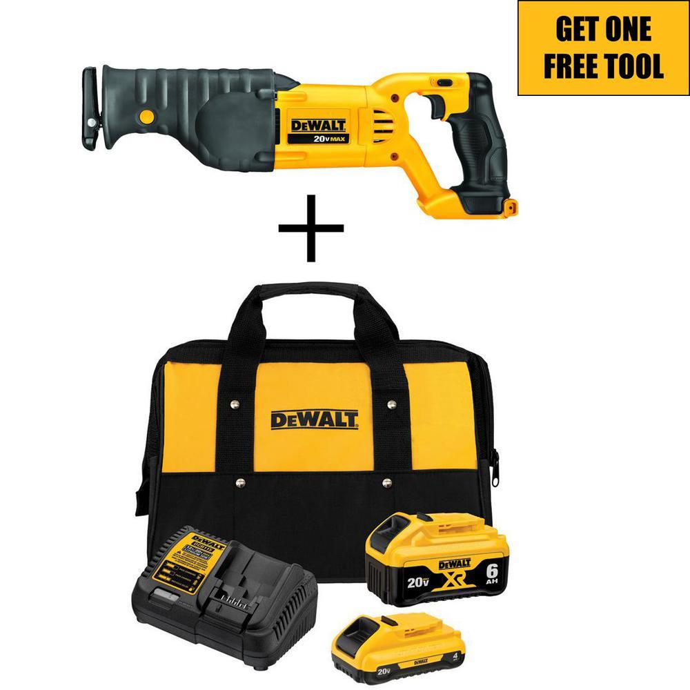 Dewalt 20-Volt MAX XR Starter Kit w/2 Battery + Free Tool Deals