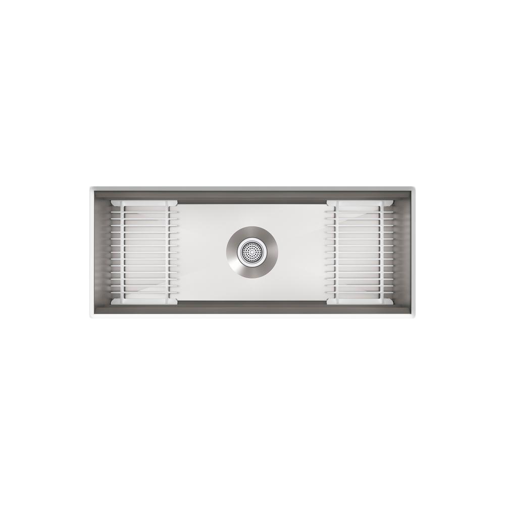 Prolific Undermount Stainless Steel 44 in. Single Bowl Kitchen Sink