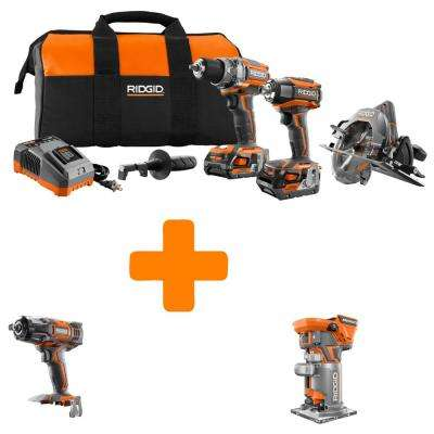 GEN5X 18-Volt Lithium-Ion Brushless Cordless Combo Kit (3-Tool) with Bonus Impact Wrench and Brushless Compact Router