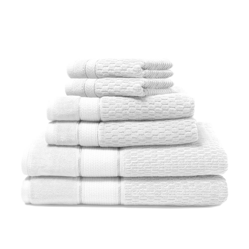 Royale 6-Piece 100% Turkish Cotton Bath Towel Set in White