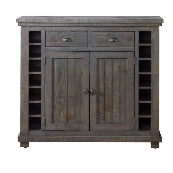 Progressive Furniture Willow Distressed Dark Gray Server D801 56