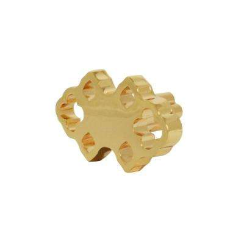 Granada 1-7/10 in. x 1 in. Polished Gold Cabinet Knob