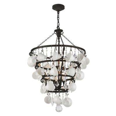 Barista 8-Light Vintage Bronze Chandelier