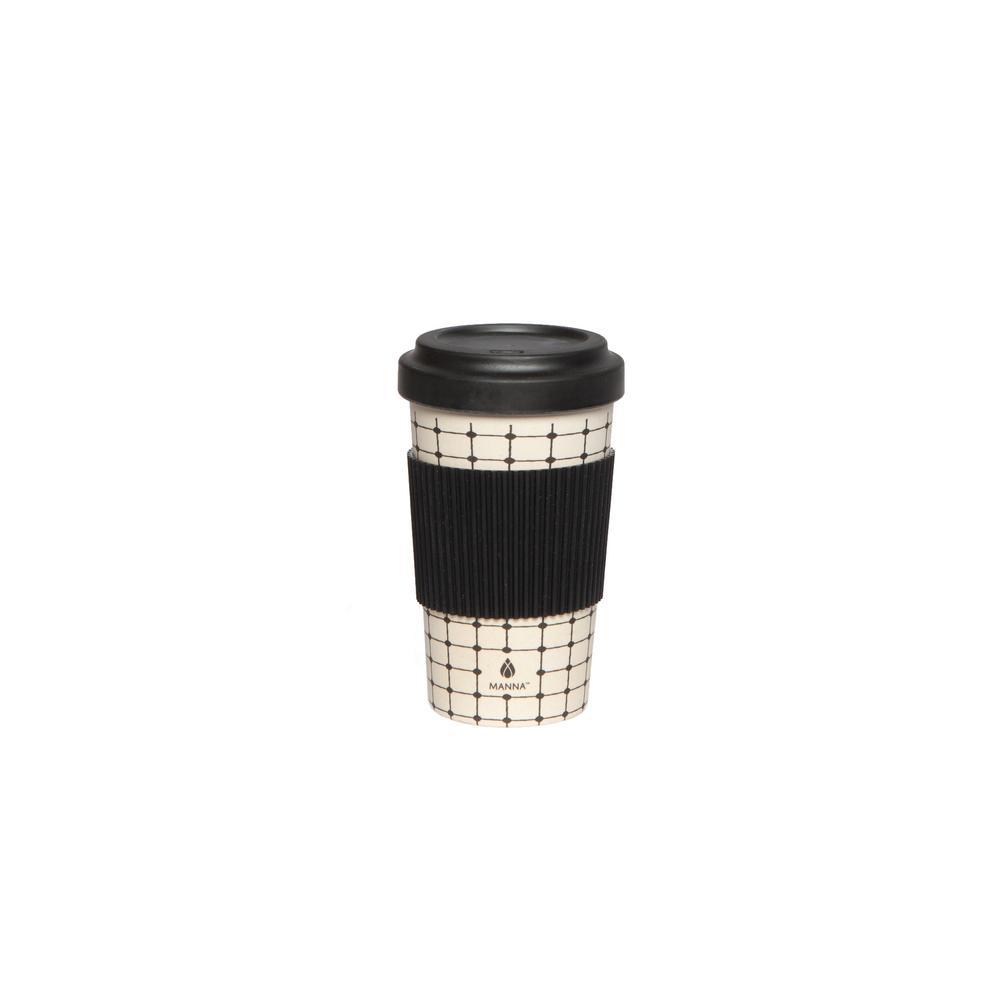 manna 21 oz grid bamboo fiber to go mug hd18203 the home depot
