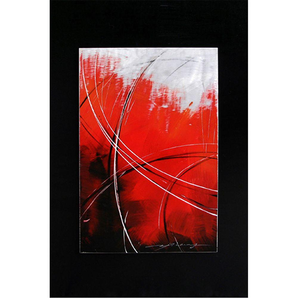Yosemite Home Decor 35 in. x 24 in. Like the Wind Hand Painted Contemporary Artwork-DISCONTINUED