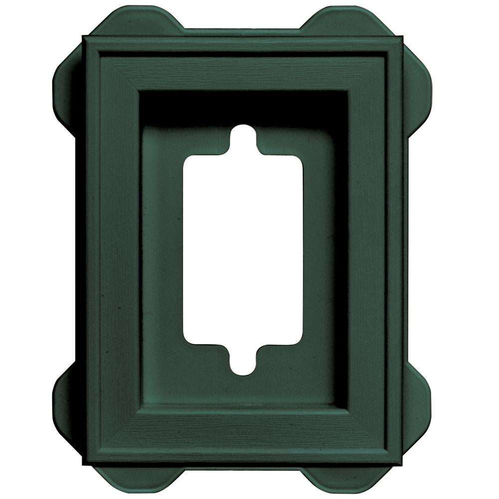4.5 in. x 6.3125 in. #028 Forest Green Recessed Mini Mounting