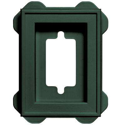 4.5 in. x 6.3125 in. #028 Forest Green Recessed Mini Mounting Block
