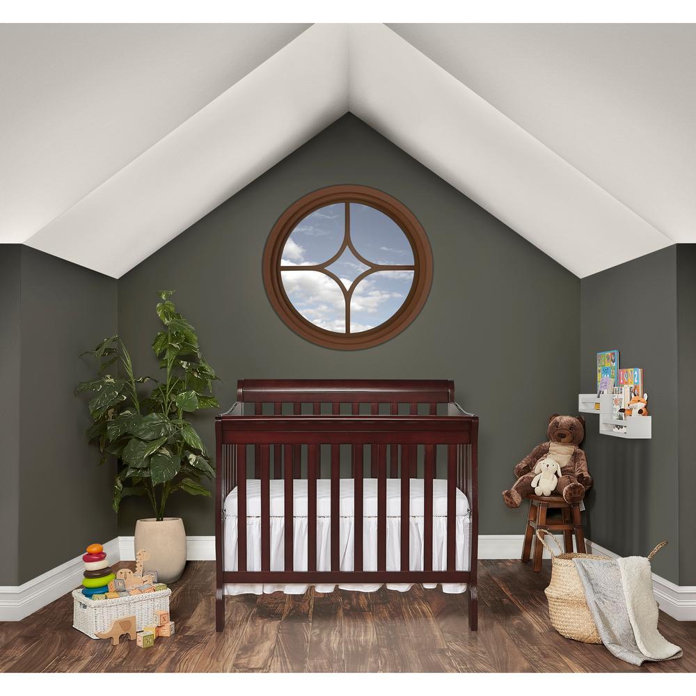 Dream On Me Aden Espresso 4-in-1 Convertible Mini Crib 628-E