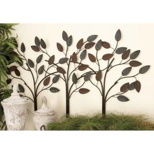 Oil-Rubbed Bronze Tree-Lined Street Metal Work Wall Decor-2158 ...