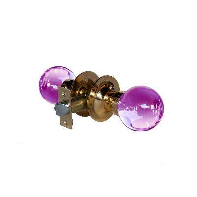 Plush Pinkett Crystal Brass Passive Door Knob with LED Mixing Lighting Touch Activated