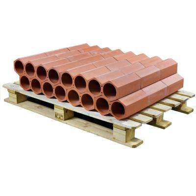 Botellero 4-3/4 in. x 9-1/4 in. 2-Bottle Terra Cotta Unglazed Ceramic Stackable Floor Wine Rack (24 pcs/15.12 sqft/plt)