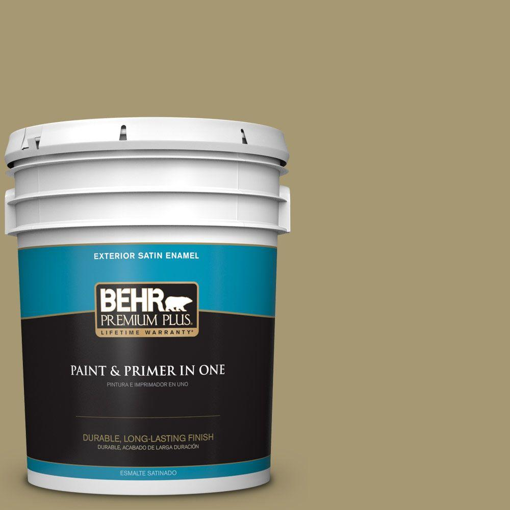 5-gal. #S330-5 Dried Chive Satin Enamel Exterior Paint