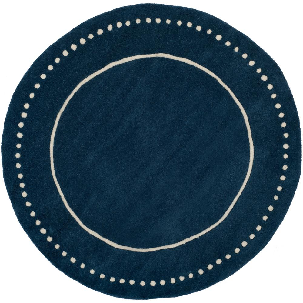Safavieh Bella Navy Blue Ivory 5 Ft X 5 Ft Round Area Rug Bel151g
