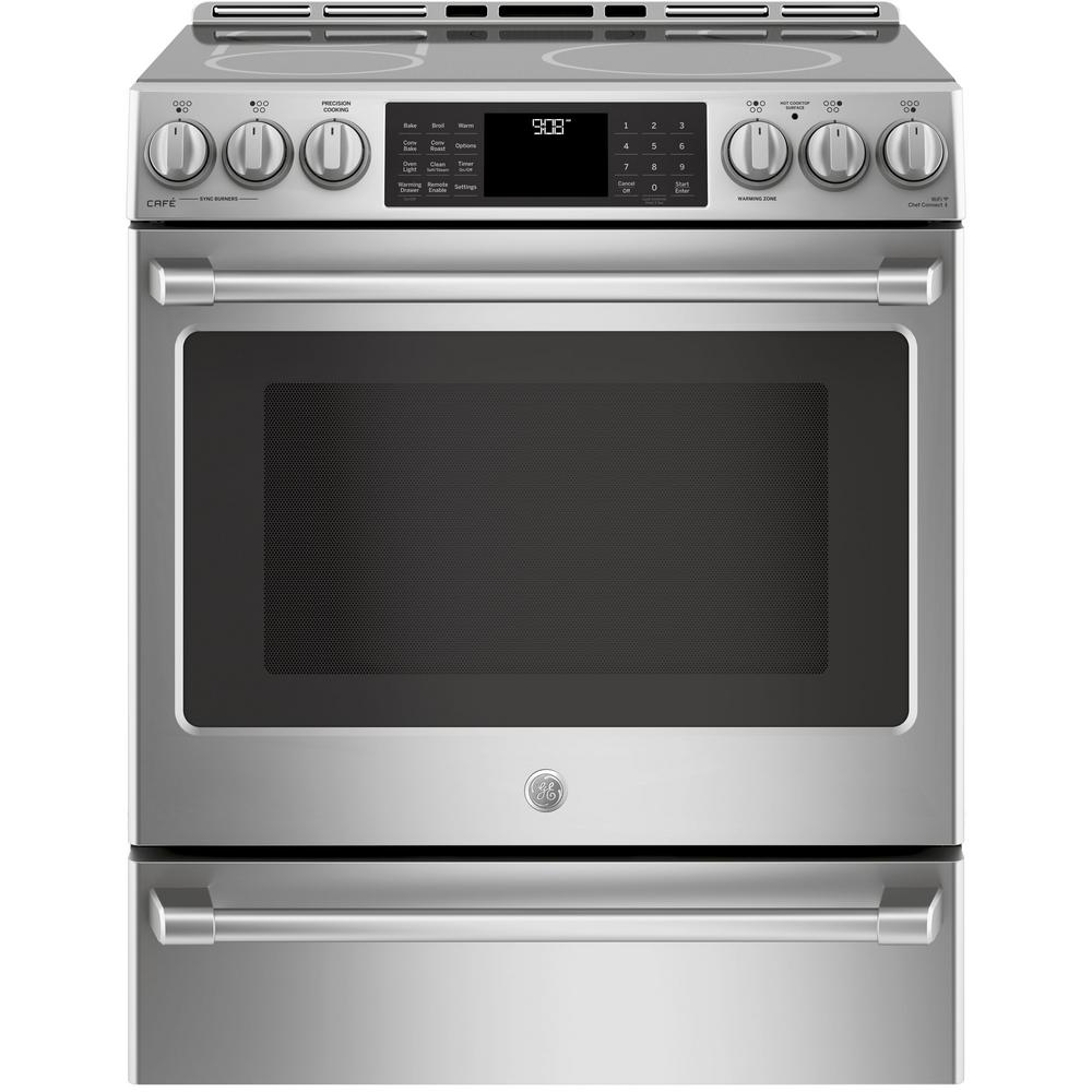 Slide In Induction And Convection Range With Warming Drawer Stainless Steel Chs985selss The Home Depot