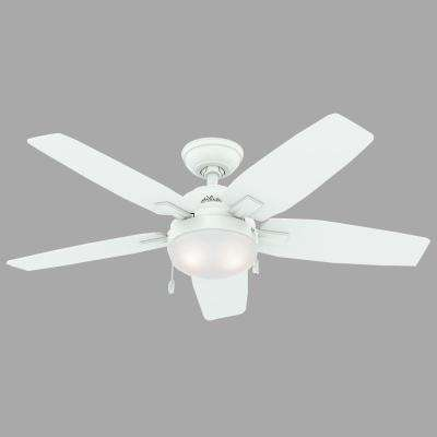 Antero 46 in. Indoor Fresh White Ceiling Fan with Light