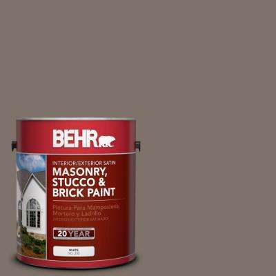 1 gal. #MS-86 Dusty Brown Satin Interior/Exterior Masonry, Stucco and Brick Paint