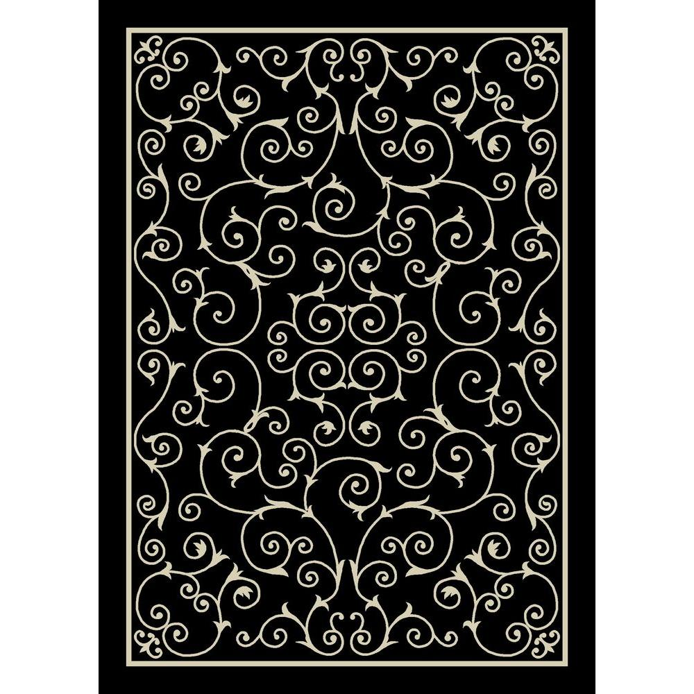 Black And White Rug Outdoor: Nourison Home And Garden Pavilion Black 7 Ft. 9 In. X 10