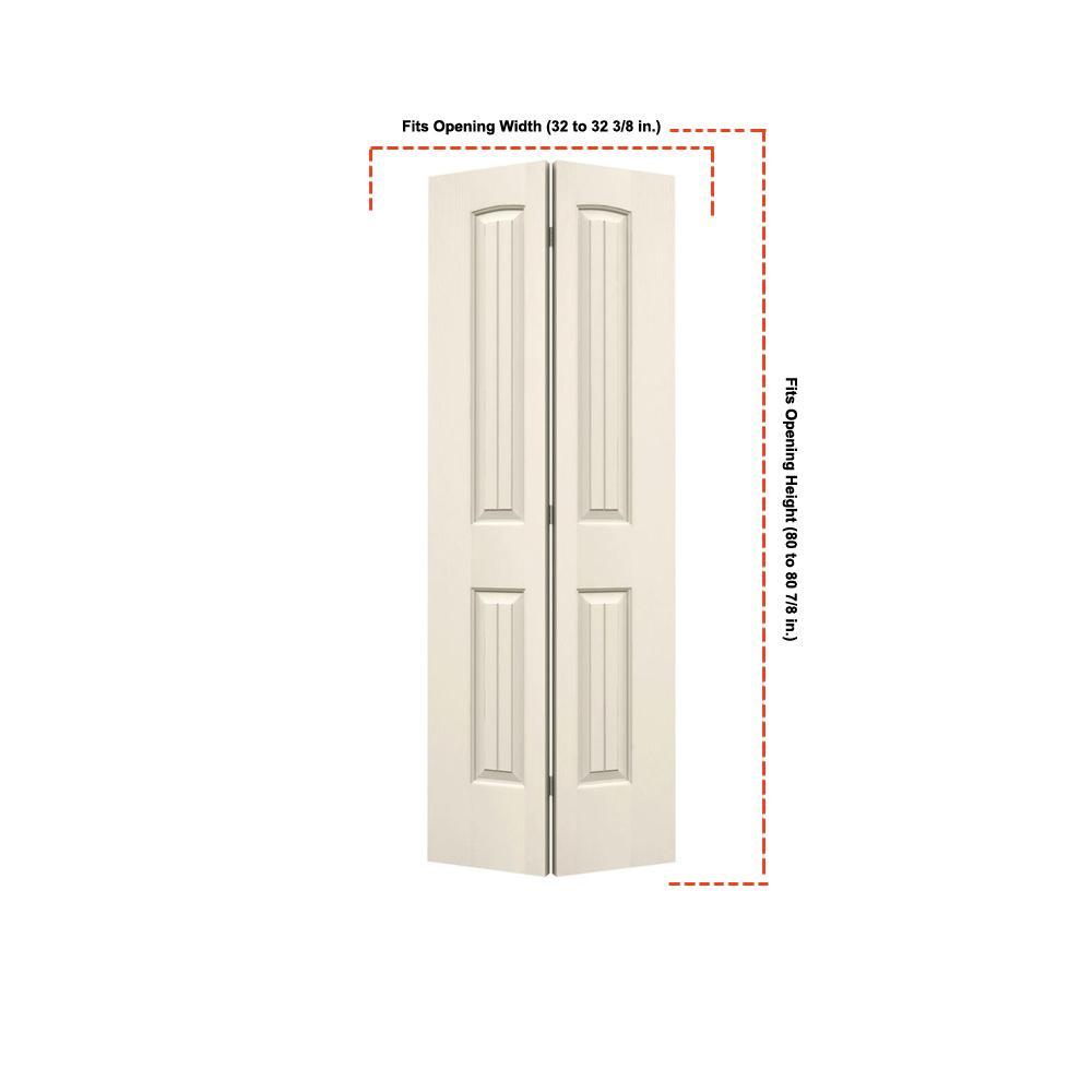 32 in. x 80 in. Santa Fe Primed Smooth Molded Composite MDF Closet Bi-fold Door