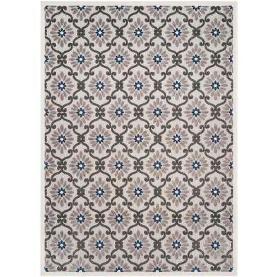 Cottage Gray/Royal 8 ft. x 11 ft. Indoor/Outdoor Area Rug
