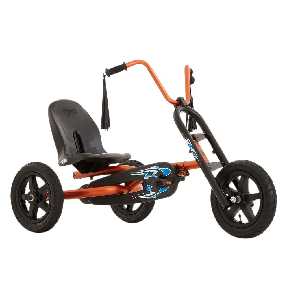 BERG Choppy Pedal Cart, Oranges/Peaches