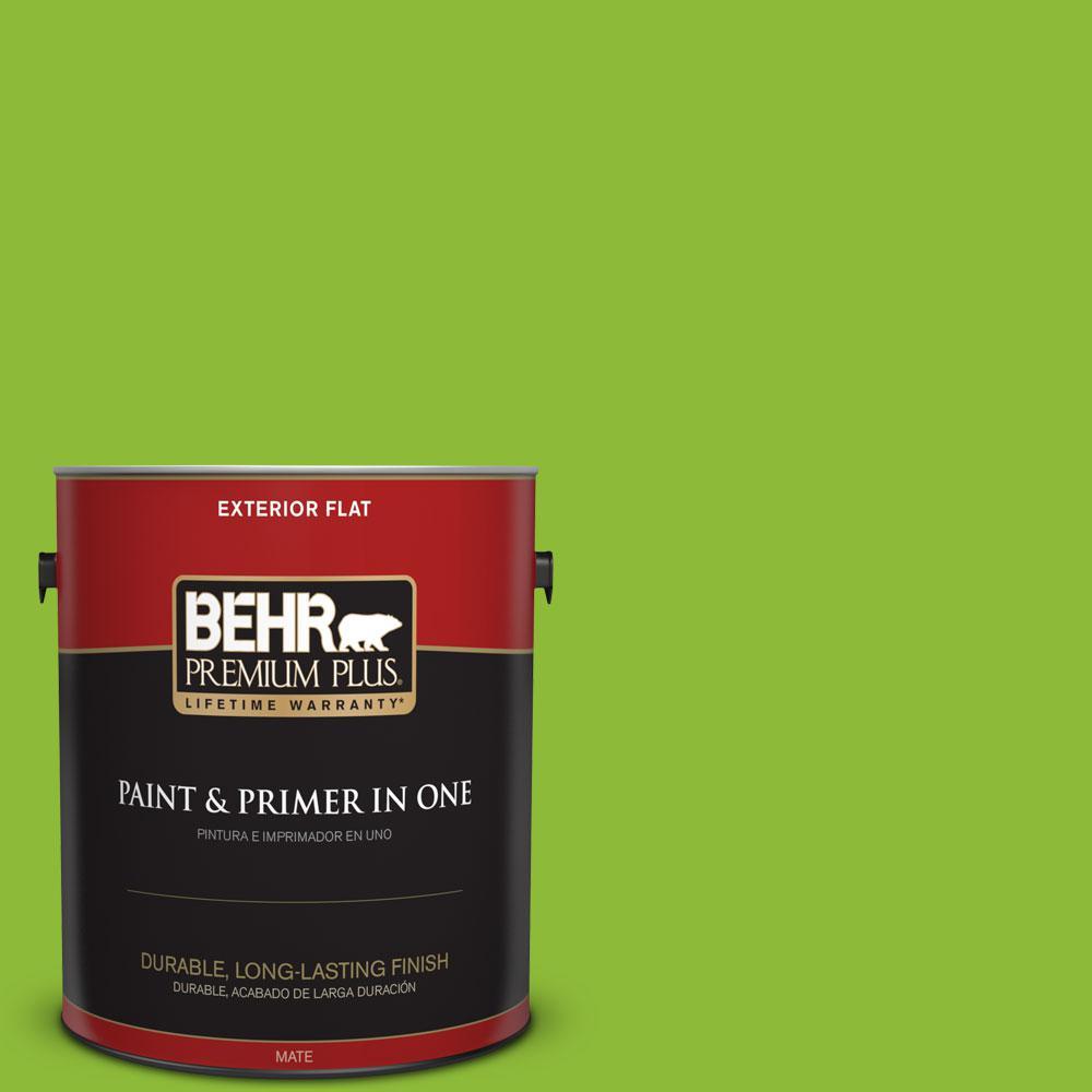 BEHR Premium Plus 1-gal. #S-G-420 Limeade Flat Exterior Paint