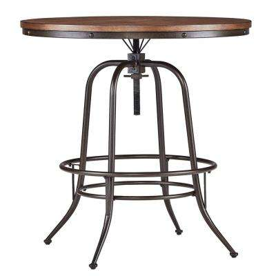 Olson Brown Adjustable Pub/Bar Table