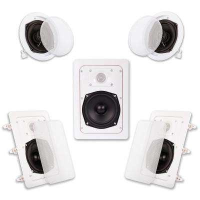 In-Wall/Ceiling 1000-Watt Home Theater 5 Speaker System