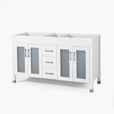 Halston 60 in. W x 22 in. D Bath Vanity Cabinet Only in White