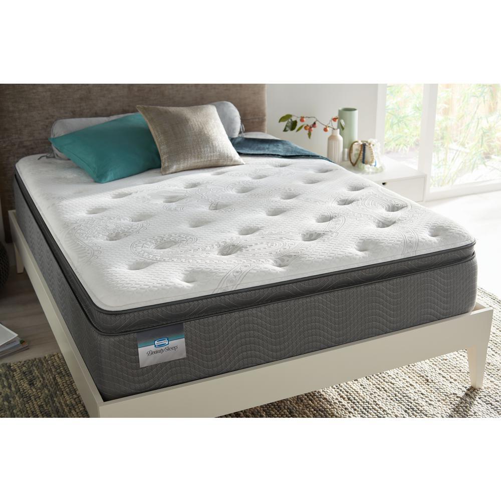 BeautySleep Pacific Mariners Twin XL Plush Pillow Top Low Profile Mattress Set