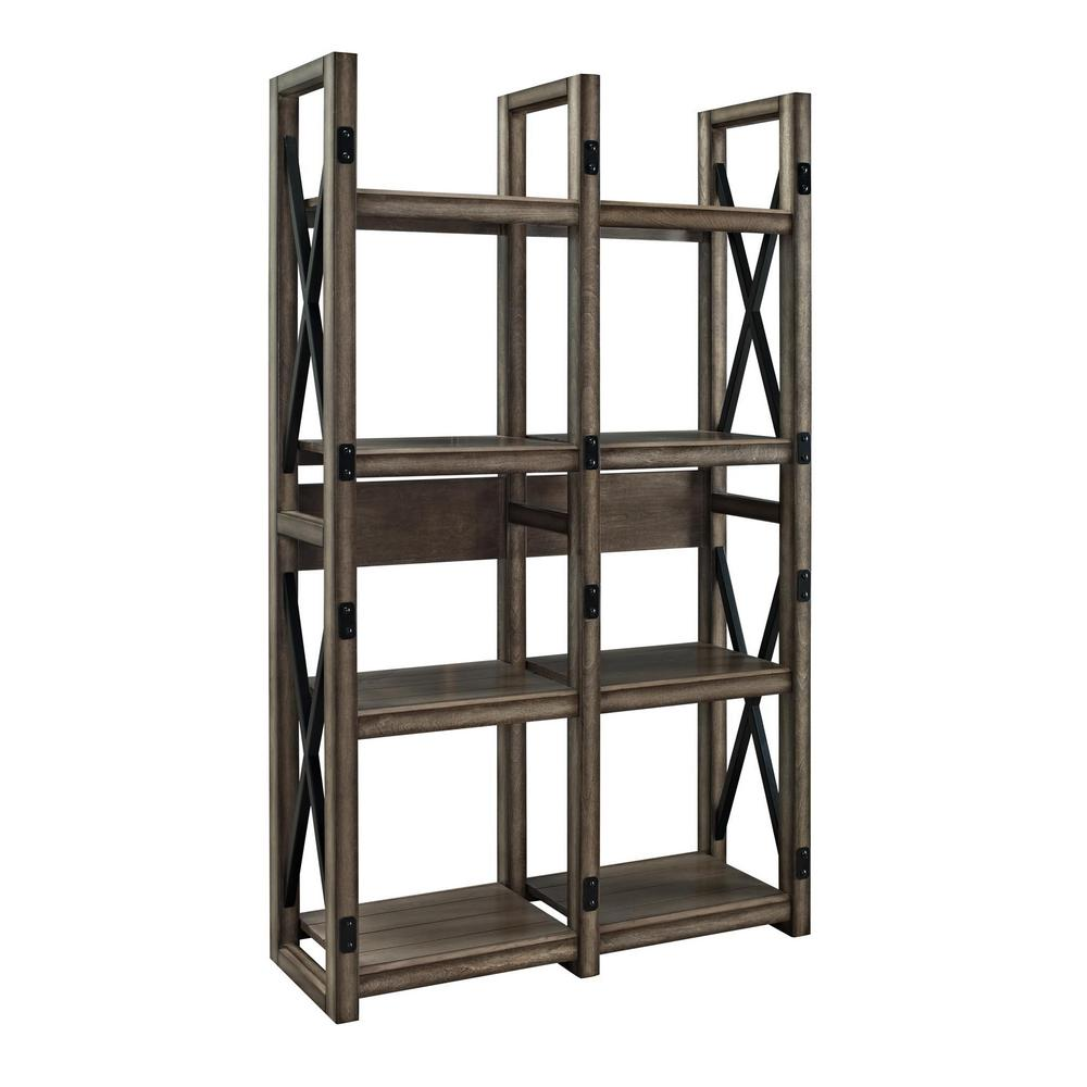 Forest Grove Gray Open Bookcase