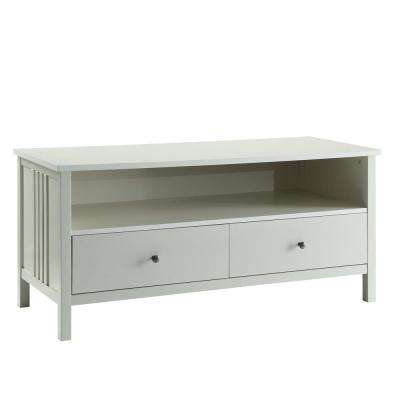 White Mission TV Stand