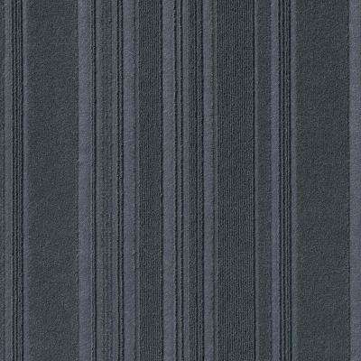 Peel and Stick First Impressions Barcode Shadow 24 in. x 24 in. Commercial Carpet Tile (15 Tiles/Case)