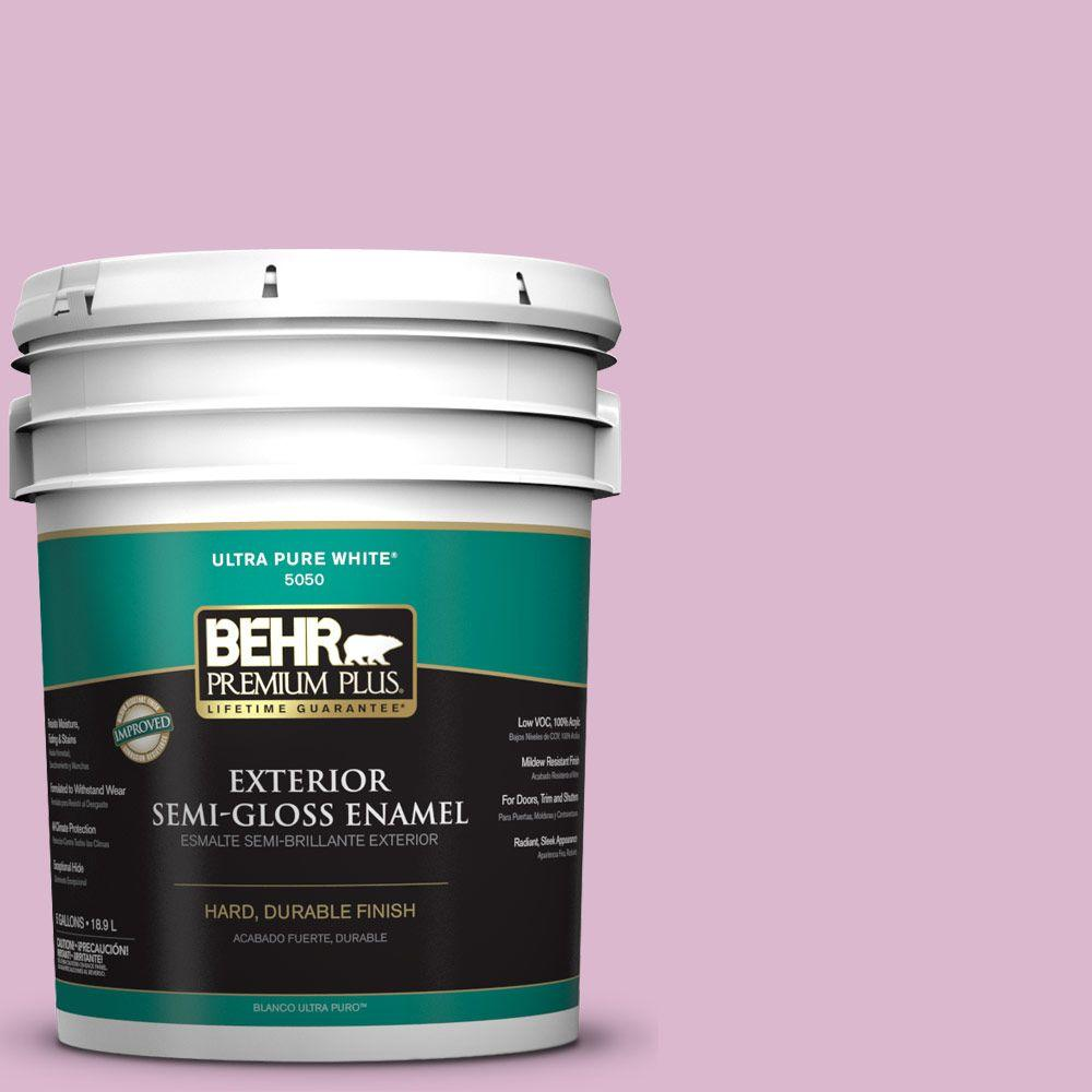 5-gal. #M120-3 Pink Wink Semi-Gloss Enamel Exterior Paint