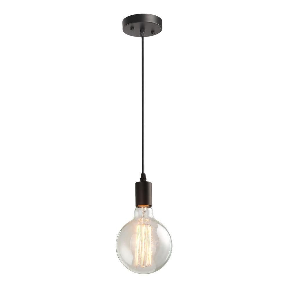Lnc 1 light black industrial pendant light kit