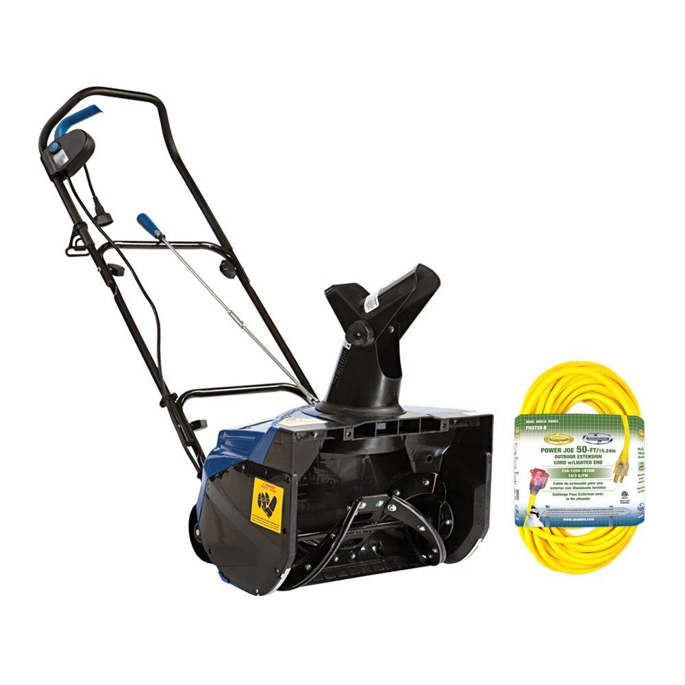 Snow Joe 18 in. 13.5 Amp Electric Snow Blower with Bonus 50 ft. Cord