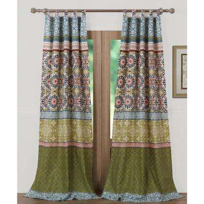 Shangri-La Multi Sheer Polyester Window Panel Pair - 42 in. W x 84 in. L