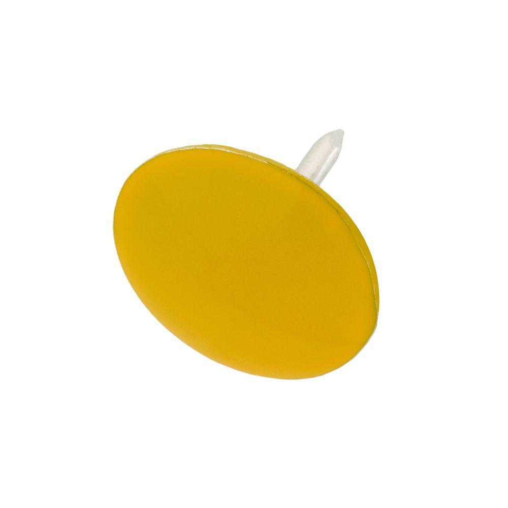 everbilt 13 32 in yellow thumb tacks 60 piece 801404 the home depot