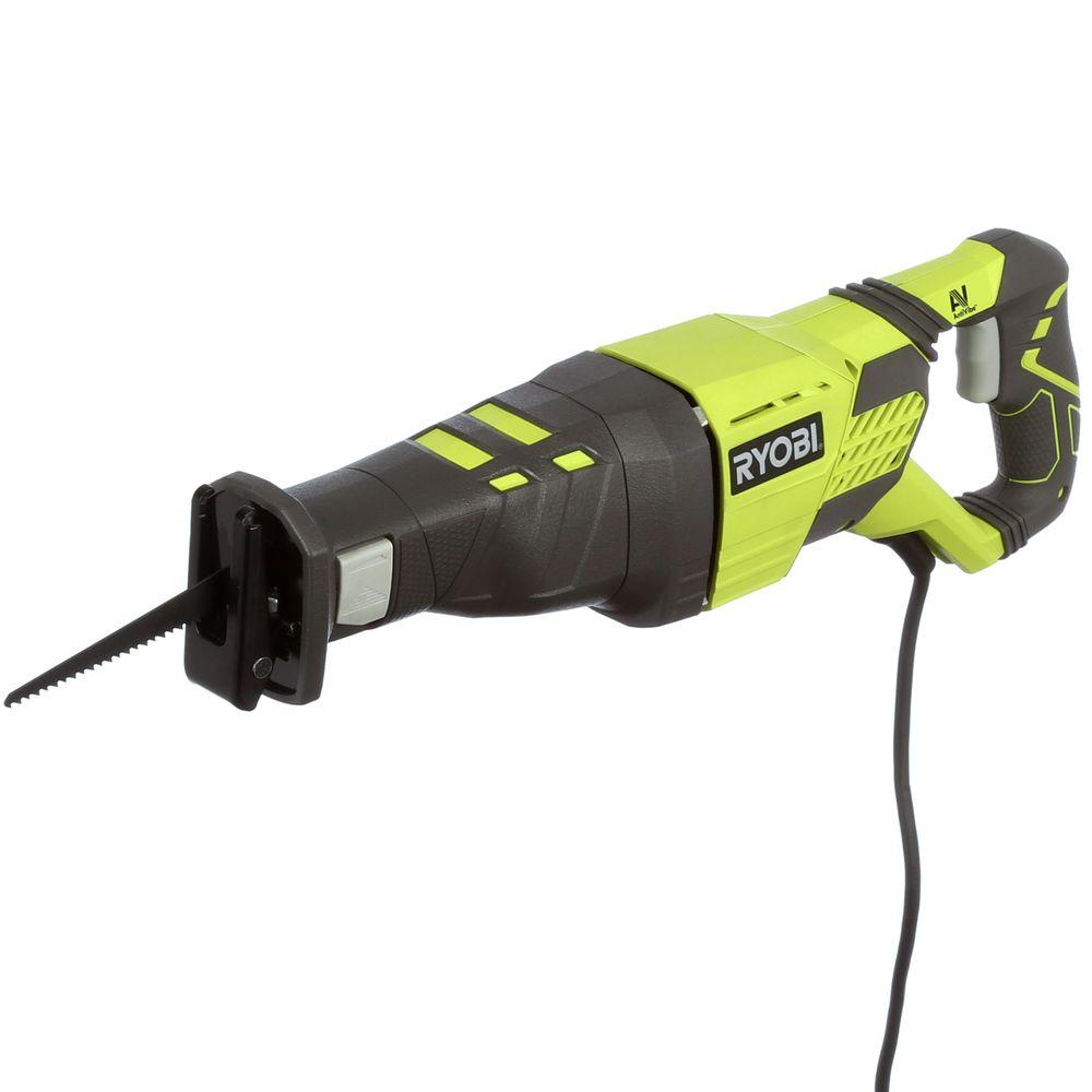 Ryobi 12 amp reciprocating saw rj186v the home depot ryobi 12 amp reciprocating saw greentooth Image collections